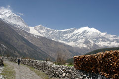 Trekking Himalaja-Nepal Lizenzfreies Stockbild