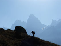Trekking in Himalaya. Royalty Free Stock Photography