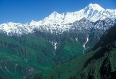 Trekking in the Himalaya Stock Photo