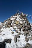 Mountain Himalata Summit in Nepal. Trekking in Himalaya Gosaikunda trek for hikers tourists Stock Photo
