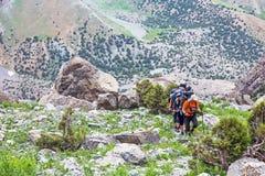 Trekking in Himalaya Stock Photo