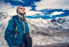 Trekking in Himalaya mountains Royalty Free Stock Photos