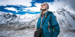 Trekking in Himalaya mountains Stock Photos