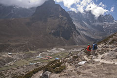 Trekking in the Himalayas Royalty Free Stock Image