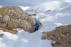 Trekking i abruzzo Royaltyfria Foton
