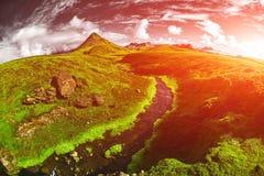 Trekking i Island arkivbild