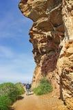 Trekking i Majorca Arkivbild