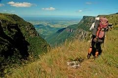 Trekking i sydliga Brasilien Arkivbild