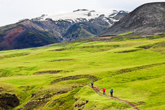 Trekking in Iceland Royalty Free Stock Images