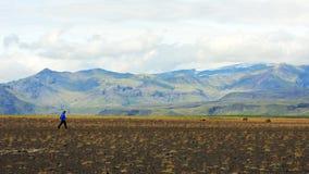 Trekking through Iceland Stock Photos