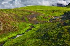 Trekking in Iceland Stock Image