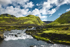 Trekking in Iceland Royalty Free Stock Photo