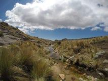 Trekking il Quebrada Yatan da Cumbrecita, rdoba del ³ di CÃ, Argentina Immagini Stock