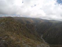 Trekking il Quebrada Yatan da Cumbrecita, rdoba del ³ di CÃ, Argentina immagine stock libera da diritti