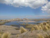 Trekking il Quebrada Yatan da Cumbrecita, rdoba del ³ di CÃ, Argentina fotografie stock