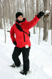 Trekking im Berg Lizenzfreies Stockfoto