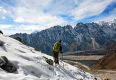 Trekking im Nepal-Himalaja stockfotografie