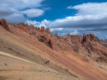 Trekking im Patagonia Stockbild