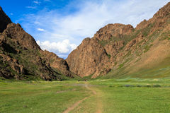 Free Trekking In Valley Of Flowers Mongolia Stock Photography - 53984782