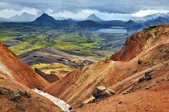 Trekking in Island stockfoto