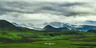 Trekking in Island lizenzfreies stockfoto