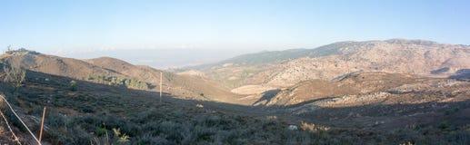 Hermon mountain panorama in Israel. Trekking in israeli north near syrian border Stock Photos