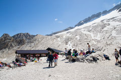 Trekking on italians dolomities Stock Image