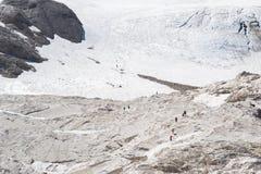 Trekking on italians dolomities Royalty Free Stock Image