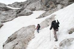 Trekking in Julian Alps Royalty Free Stock Images