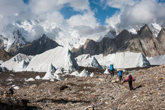 Trekking in Karakoram Mountain Range, Pakistan. Trekking in Karakoram Mountain Range, Northern Pakistan Stock Photos