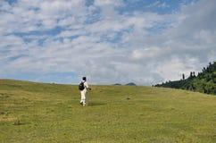 Trekking in Kaschmir Stockfoto