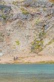 Trekking in Laguna Turquesa lizenzfreies stockbild