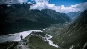 Trekking in Langtang Region of Nepal. Stock Photography