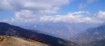 Trekking le gamme di Annapurna Fotografie Stock Libere da Diritti