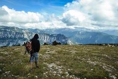 Trekking in Le Glandasse Royalty Free Stock Image