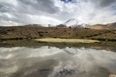 Trekking in Leh India with lakes along trek Stock Photography