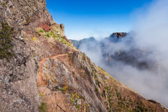 Trekking on Madeira island Royalty Free Stock Image