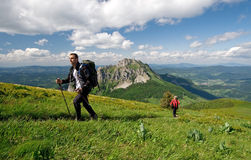Trekking in Mala Fatra, Slovakia Royalty Free Stock Photos