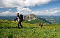 Trekking in Mala Fatra, Slowakei Lizenzfreie Stockfotos