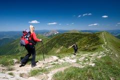 Trekking in Mala Fatra, Slowakei Lizenzfreies Stockfoto