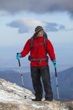 Trekking in montagne Fotografia Stock