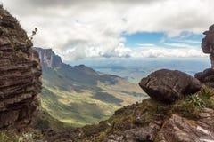 Trekking montering Roraima Royaltyfri Fotografi