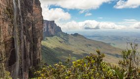 Trekking montering Roraima Arkivbild