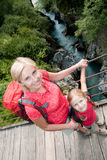 Trekking with mother Royalty Free Stock Photography