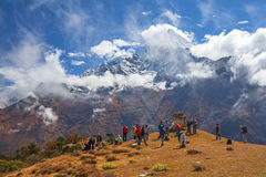 Trekking Mount Everest Stock Photo