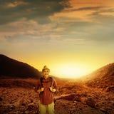 Trekking In Mount Papandayan Stock Images