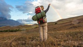 Trekking Mount Roraima royalty free stock image