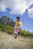 Trekking  into the mountain Stock Images