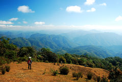 Trekking on the mountain. In Thailand Stock Photo
