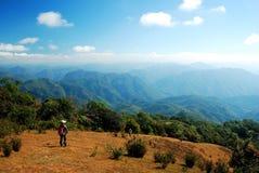 Trekking on the mountain. In Thailand stock photo